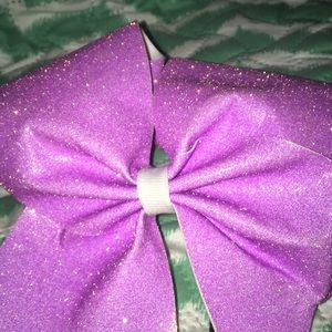 Accessories - Sparkly pinck cheer bow
